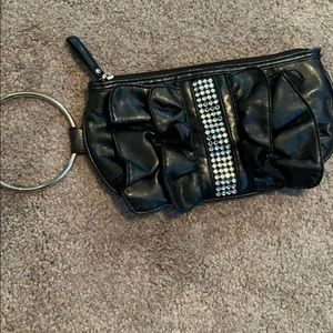 gorgeous Vintage genuine black leather purse